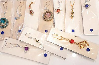 Wholesale Job Lot 10 Mixed Hand Made Gold & Silver Plated Necklaces Jewellery