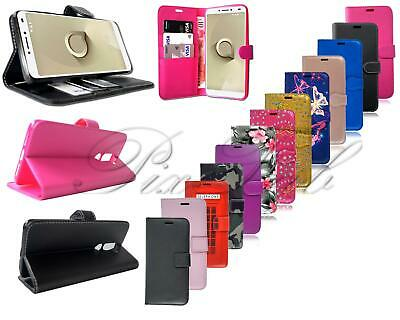 For Alcatel 3V 5099D New Stylish Genuine Black Leather Wallet Phone Case Cover