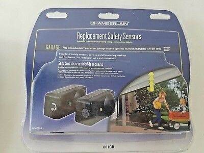 Chamberlain 801CB 2 Replacement Safety Sensors Factory Sealed NEW