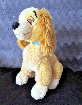 "DISNEY STORE EXCLUSIVE Lady and the Tramp Plush Soft Toy Dog 14"" high"