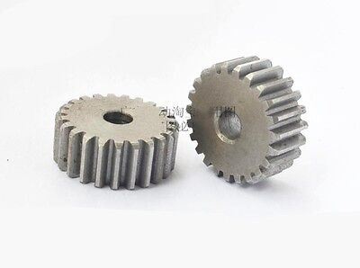 2.5Mod 22Tooth Spur Gear 45# Steel Outer Diameter 60mm Thickness 25mm x 1Pcs