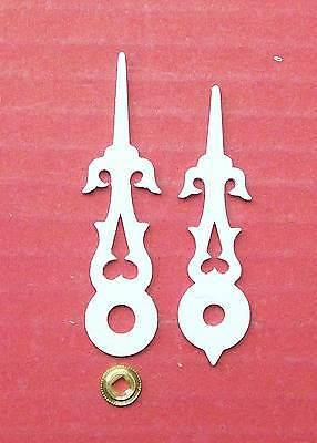 Cuckoo clock hands new white to suit various Regula movements & dial sizes.