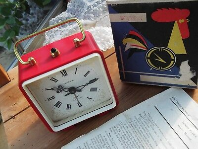 1978 Vintage Russian Alarm  mashpriborintorg NOS with box and papers