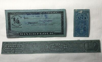 1926 US Tobacco, Cigarettes, Mixed Flour Stamps Series 104 105 Cancelled
