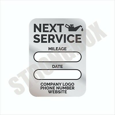 Automotive Safety 24pk CUSTOM STATIC CLING LABELS - OIL CHANGE MAINTENANCE