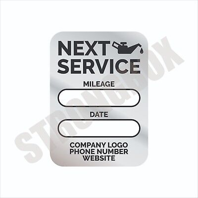Automotive Safety 100pk CUSTOM STATIC CLING LABELS - OIL CHANGE MAINTENANCE