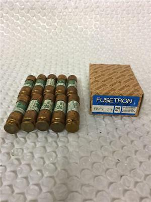 Fusetron Dual Element FRN-R 20 250Volt Box of 10 Fuses