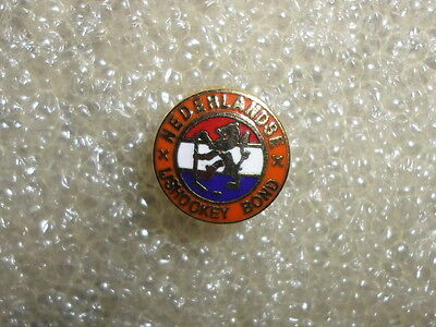 Netherland IIHF Ice Hockey federation Holland official association pin badge