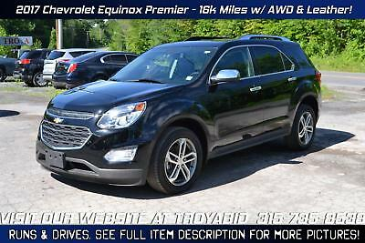 Equinox NO RESERVE 2017 Chevrolet Equinox AWD Leather Rebuildable SUV Repairable Damaged Wrecked
