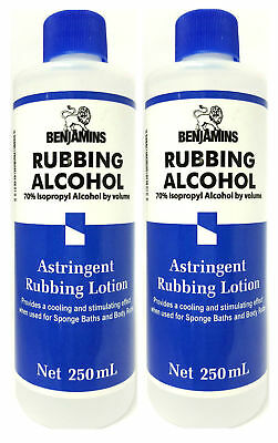 2 x Benjamin Rubbing Alcohol 70% Original 250ml + Free P&P