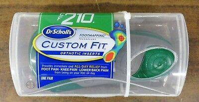 New 100% Authentic Dr. Scholls Custom Fit Cf210 Orthotic Inserts Shoe Insoles