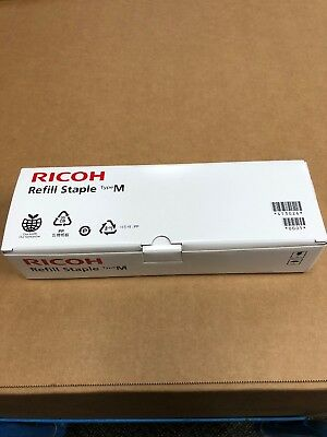 Genuine Ricoh Refill Staple Type M, EDP 413026, 5 Cartridges, 25,000 Staples OEM