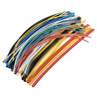 70X Assortment Heat Shrink 1mm-5mm 2:1 Colourful Heatshrink Tubing Tube CS