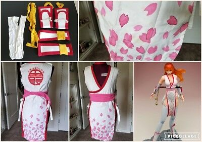 Kasumi Dead or Alive Cherry Blossom Dress DOA Cosplay Women's M/L Costume