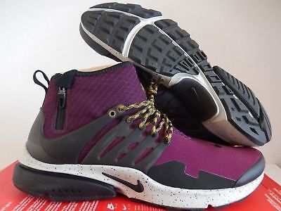 b2135baf6446 NIKE AIR PRESTO Mid Utility Bordeaux-Black-Pale Grey Sz 14  859524-600  -   116.99