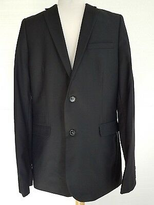 Boys Blazer Jacket 2 Button Youth Black Size 8 Formal Event Wedding Uniform NEW