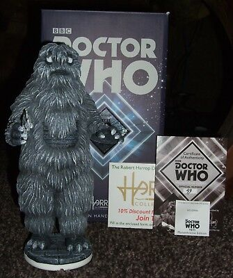 Robert Harrop Dr Who Monochrome Yeti #99/100 with Tent & Info Cards-Mint &  Boxed
