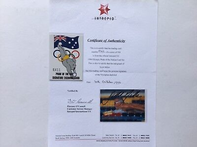 1996 Dynamic Olympic Redeemed Signature Card With Coa - Scott Miller - E411
