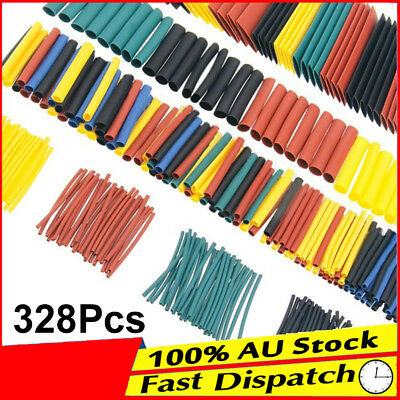328pcs Electrical Cable Tube Tubing Assortment Wrap Wire Kit Heat Shrink Sleeve