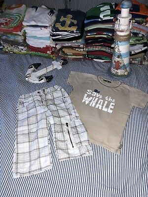 Oilily SAVE THE WHALE T-shirt top H&M Shorts Outfit 5-6 Euro 116 SELLING TONS!!!