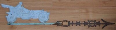 1900's Victorian Antique Lightning Rod Touring Car Automobile Weathervane