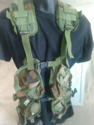 Light Load Bearing Equipment Tactical Vest - Woodland - U.S. Military Issue