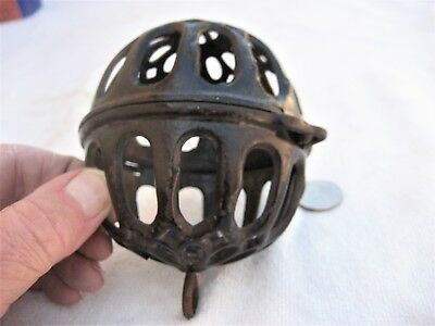Antique hanging old store cast iron string holder