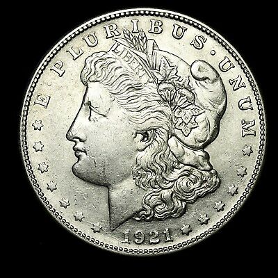 1921 S ~**ABOUT UNCIRCULATED AU**~ Silver Morgan Dollar Rare US Old Coin! #513