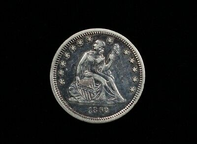 1862 Seated Liberty Quarter Silver 25c Civil War Issue