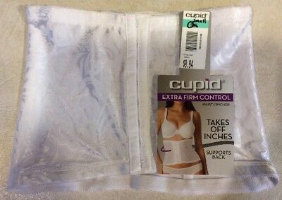 4445cea51ac Cupid Extra Firm Control Waist Cincher Size Small White TAKE OFF INCHES NWT