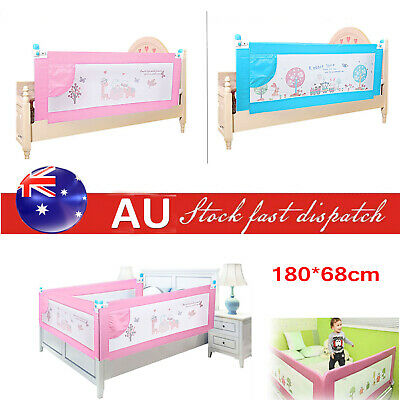 180cm Baby Bedrail Bed Rail Child Toddler Kids Cot Guard Protection Safety Pink