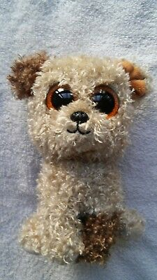 "Ty Beanie Boos Rootbeer the Dog 6"" No  Hang Tag Eyes Mint"