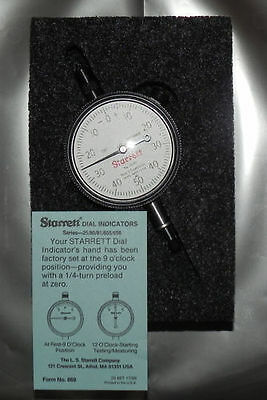 "Starrett Dial Indicator 0 to 0.250"" 25-141 NEW"