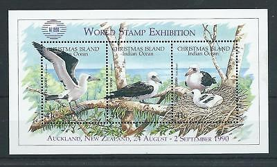 1990 Abbotts Booby mini sheet optd 'NZ 1990' MUH ML610