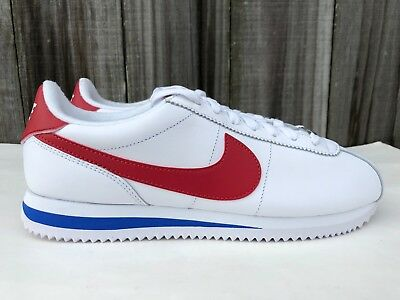 958c578501f Men s Nike Cortez Leather OG Running Shoes Forrest Gump White Red 882254 164