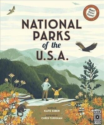 National Parks of the USA, Hardcover by Siber, Kate; Turnham, Chris (ILT), IS...