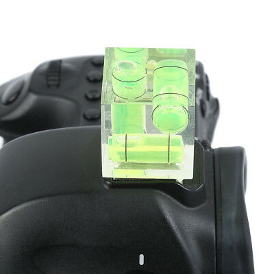 3D Triple 3 Axis Bubble Spirit Level Hot Shoe Adapter Camera Photography HS1