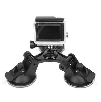 Car Triple Suction Cup Windscreen Glass Vacuum Bases For GoPro Hero 5 4 3 2 1