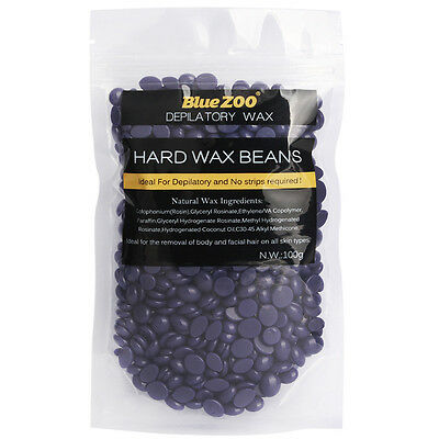 Hard Wax Beans Lavender Hair Removal Waxing Depilatory No Strip Pellet 100g