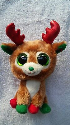 "Ty Beanie Boos Alpine the Reindeer 6"" No  Hang Tag Eyes Mint"