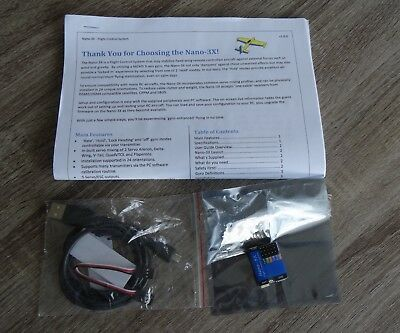 Nano-3X 3-axis gyro Flight Control system for RC airplanes. New/Unused.