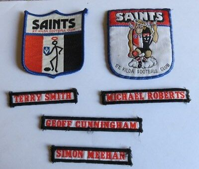 Lot of St Kilda Vintage 1980's VFL Duffle Coat Patches