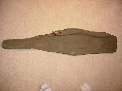 Original 1945 U.s. Ww2 Wwii Us Army Usmc M1 Carbine Canvas Rifle Carrying Case