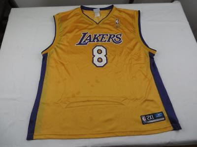 b16eeb28226 Reebok Mens Kobe Bryant Los Angeles Lakers NBA Jersey 2XL Shirt Basketball  Swag