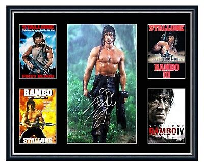 Rambo Series Sylvester Stallone Signed Limited Edition Framed Memorabilia