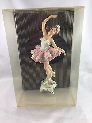 Exquisite Antique / Vintage Dresden Germany Mint in Box Ballerina! 20cm