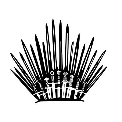 Iron Throne GAME OF THRONES Decal TOILET WALL STICKER Home Decor Art Stark