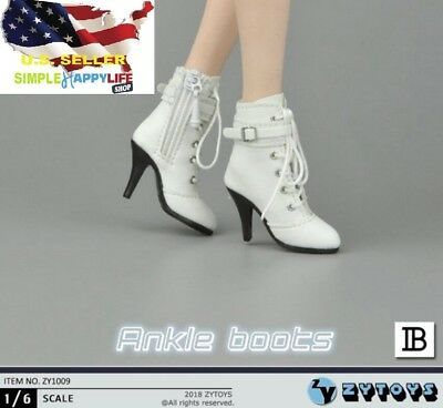 "1//6 Women Shoes Ankle Boots HOLLOW For 12/"" Hot Toys Phicen Female Figure ☆USA☆"