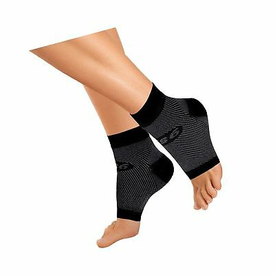 OrthoSleeve FS6 Compression Foot Sleeve (One Pair) for Plantar Fasciitis, Hee...