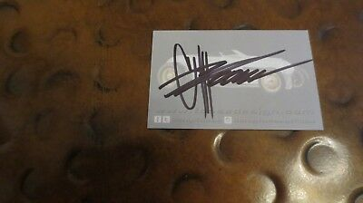 Chip Foose Velocity Overhaulin' signed autographed business card